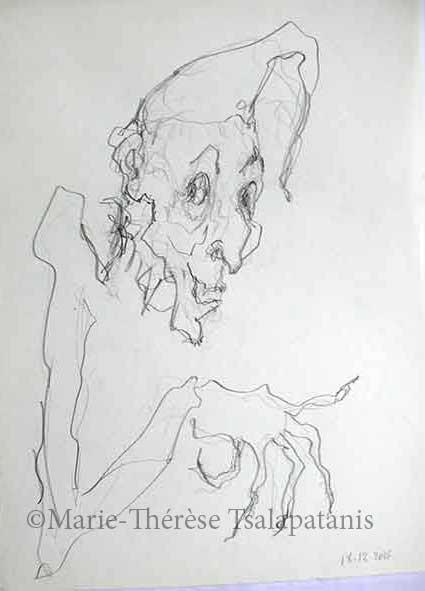 dessins-sculpture-marie-therese-tsalapatanis-bouffon