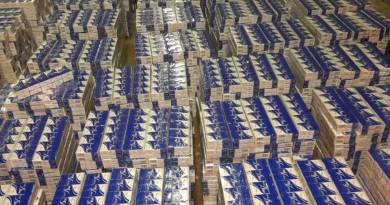 MILLIONS WORTH OF ILLEGAL CIGARETTES CONFISCATED.