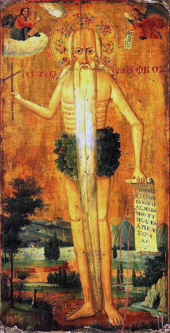 St.Onuphrius Byzantine Icon 001
