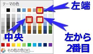 太陽光線グラデーションの分岐点の色