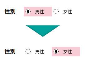 オプションボタンの動作確認