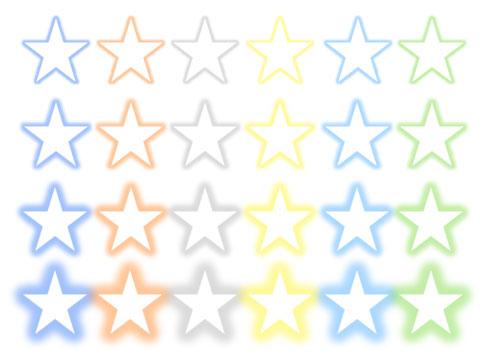 画像の「光彩」の色と適用度を比較