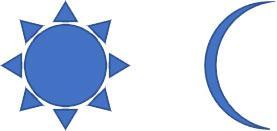 「太陽」「月」の変形例