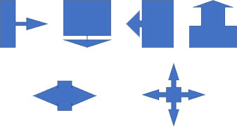 吹き出し矢印の変形例