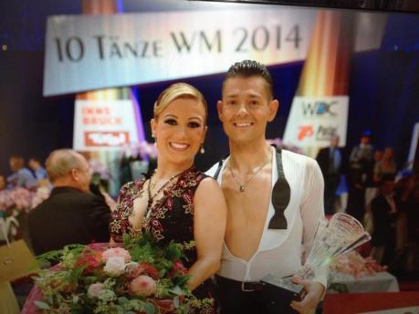 Manuela Stöckl & Florian Gschaider Platz 5 bei der WDC-Weltmeisterschaft über 10 Tänze bei den Professionals