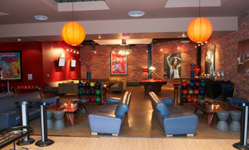 VIP area at Lucky Strike Lanes & Lounge