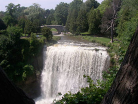 Webster's Falls is a notable waterfall attraction in the area