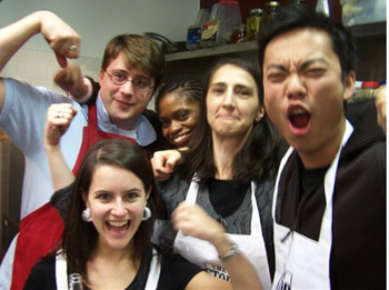 In the kitchen with