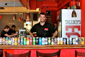 Tallboys Craft Beer House is the city's latest to line 'em up