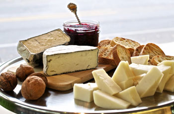 Go local with Crème Fraïche Market Café cheese boards