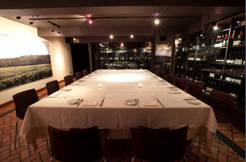 The Cellar at Splendido is a mecca for food-and-wine tastings