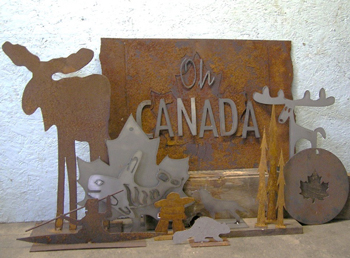 Timbers turns scrap metal into Canadiana-themed pieces