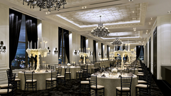 The Trump Hotel's grand ballroom is the height of opulence