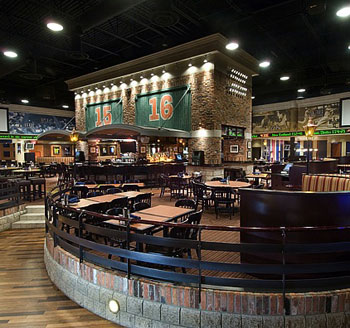 Gather the group in the Upper Bowl at WEGZ Stadium Bar