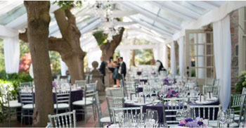 Graydon Hall Manor has tenting on its terrace down to a fine art