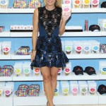 Sharapova wears David Koma at the Sugarpova accessories launch at Henri Bendel, 2013