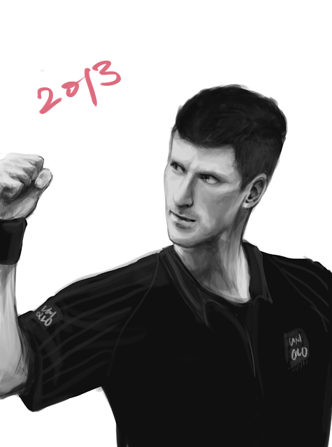 Novak Djokovic artwork by Skybending