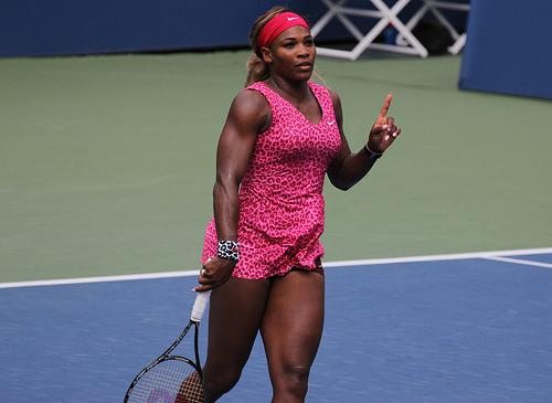 Serena Williams in pink leopard