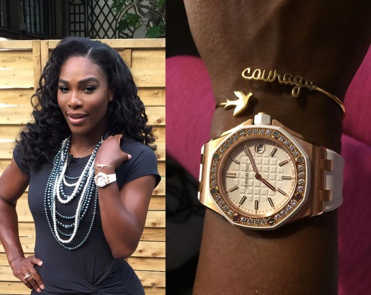 Serena Williams wears Marion Bartoli jewelry