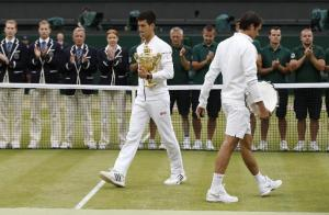 Novak Djokovic beat Roger Federer in the Wimbledon finals of 2015