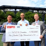 USTA foundation receives $150.000 check from ESPN
