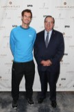 """NEW YORK, NY - AUGUST 27: Andy Murray (L) and Richard Bussiere, managing director at Langham Hotels attend """"An Evening With Andy Murray"""" event at Langham Place on August 27, 2016 in New York City. (Photo by Rob Kim/Getty Images for Langham Place, New York)"""