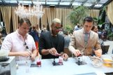 NEW YORK, NY - AUGUST 30: Guests make Lavazza's coffeetail No. 10 at the kickoff event announcing their partnership with Andre Agassi at NOMO Kitchen on August 30, 2016 in New York City. (Photo by Ed Mulholland/Getty Images for Lavazza)