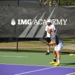 Kei Nishikori and his IMG Academy coach Dante Bottini