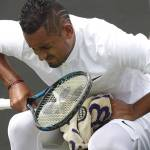Nick Kyrgios injured at Wimbledon 2017