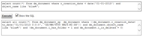 DQL to SQL