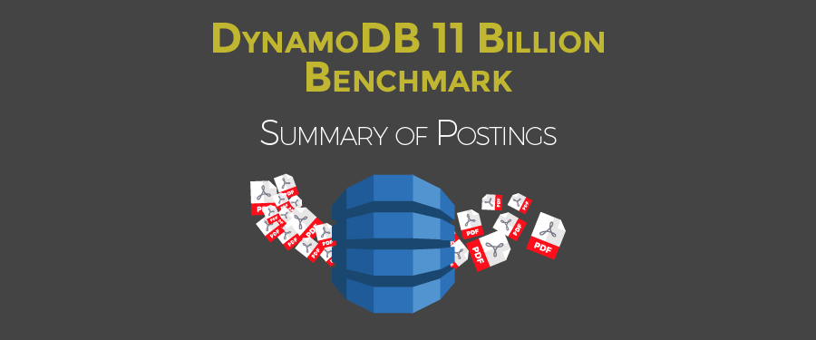 DynamoDB 11 Billion Benchmark - Summary