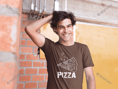 cf91bcee8 Awesome Hot cheesy pizza Pisces T shirt design, I love pizza food ...
