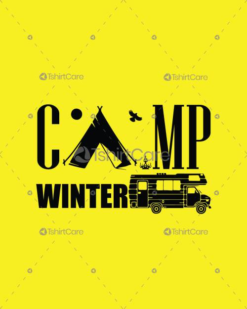 3a6af4ffb Summer/Winter Adventure camp tent with Travel bus T-shirt & Hoodie design  for tour lover men's & women's tee
