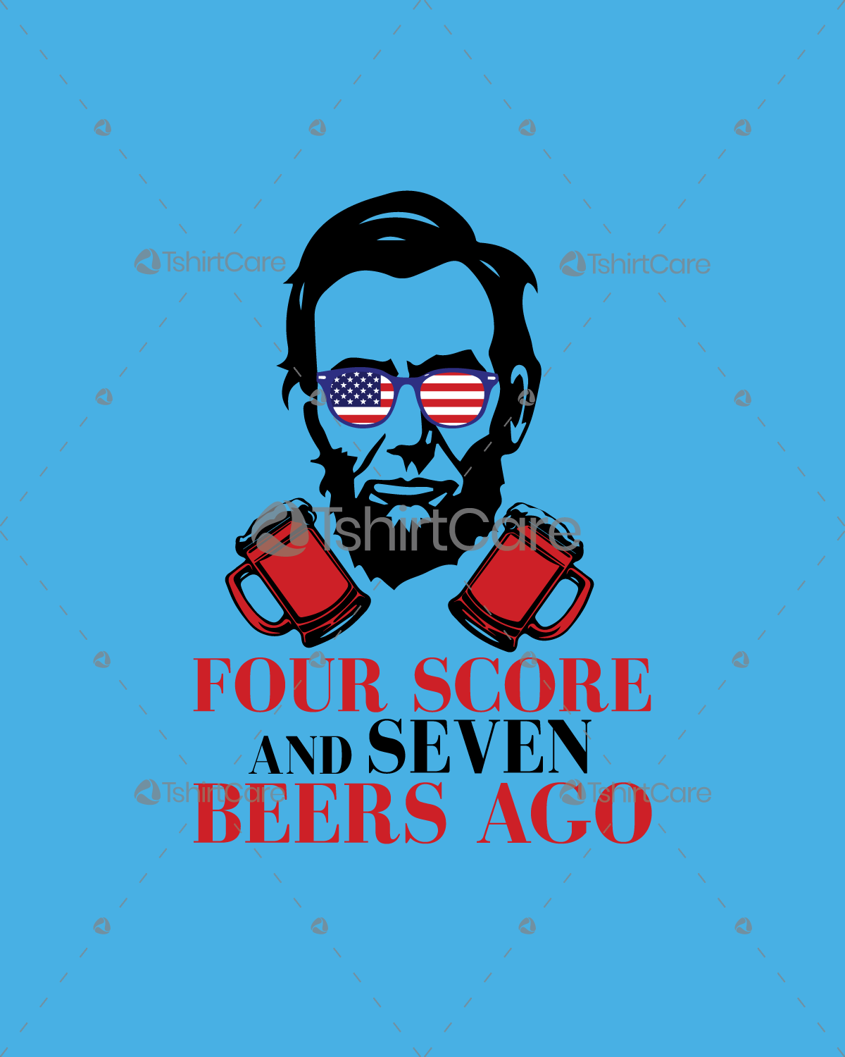 Four Score And Seven Years Ago T Shirt Shirt Design Abraham