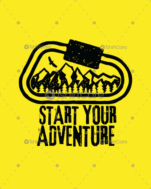 9dff52183 Start your adventure with mountain forest T Shirt Design Adventure Clothing  Hiking Gifts