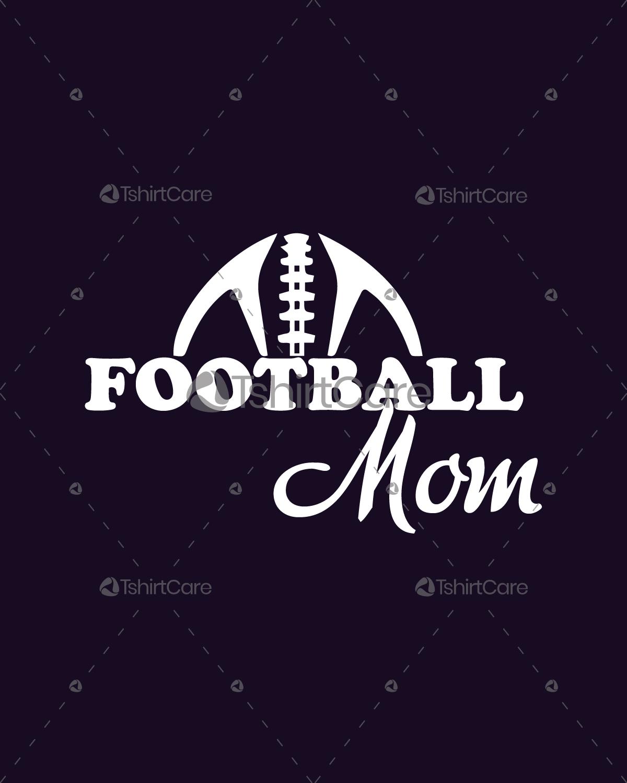 American Football Mom T Shirt Design Custom Football Mom Shirts