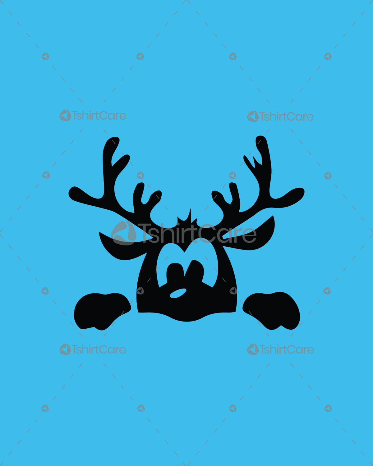 Christmas deer face T shirt Design Holiday Merry Christmas T-Shirts ...