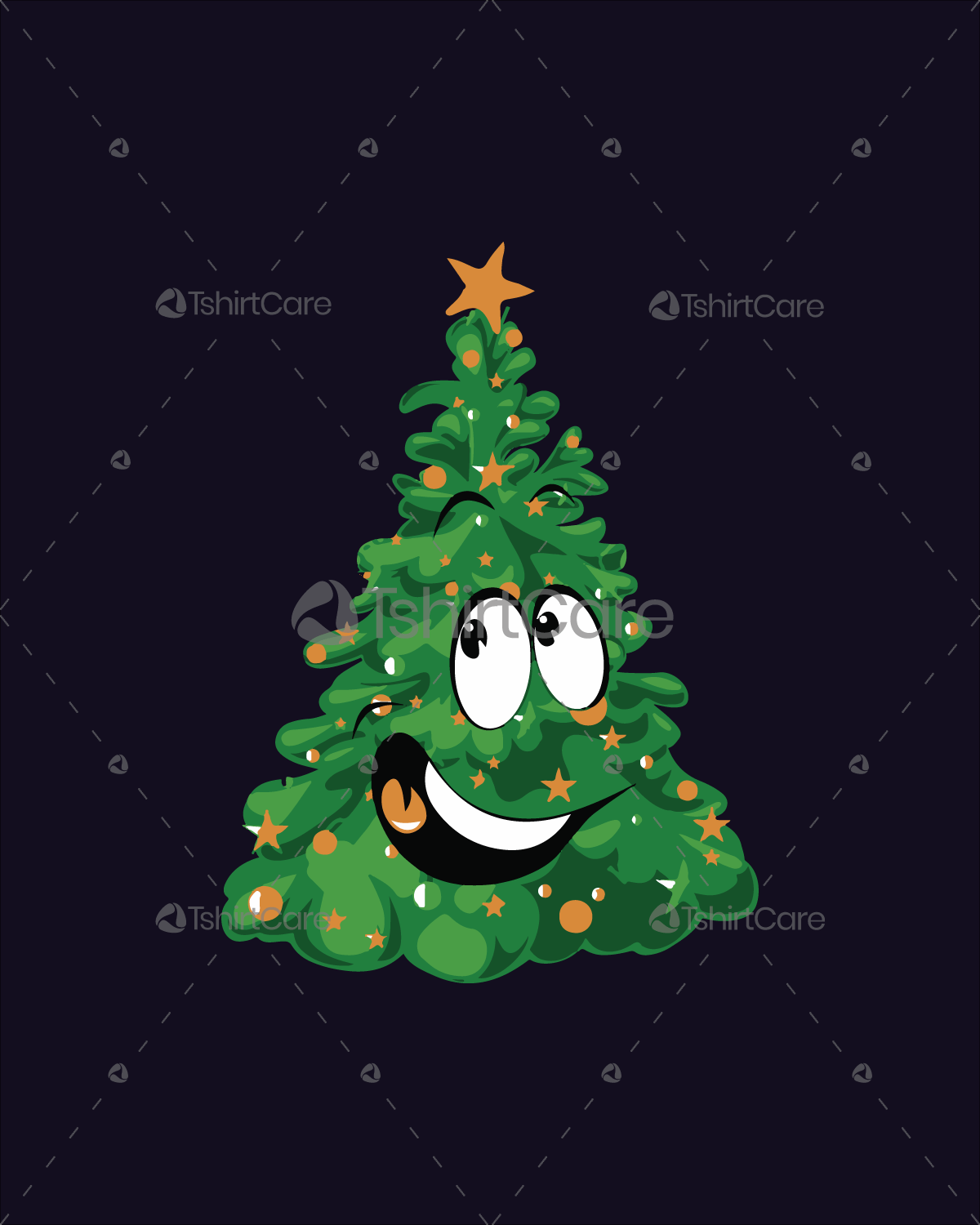 Funny Christmas Tree T Shirt Design
