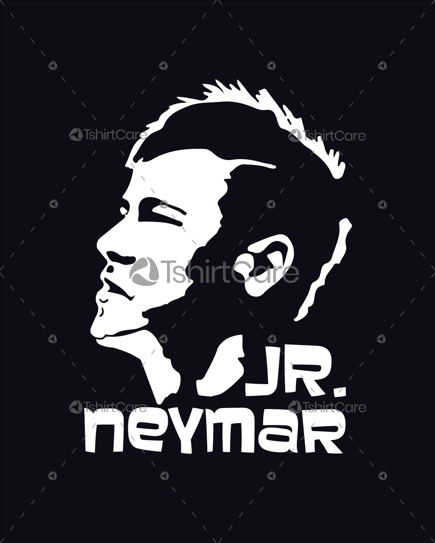 30c49978f55 Jr neymar face T shirt Design Brazil World Cup Football player Tee ...