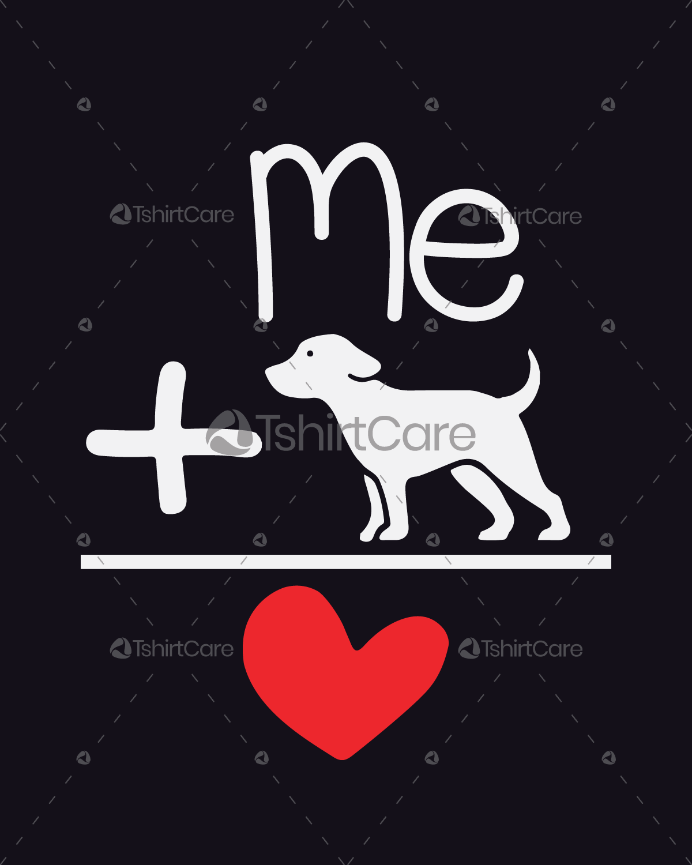 057afa2e4091 My dog loves me T shirt Design I Love My Dog T-Shirts for Pet Lover ...