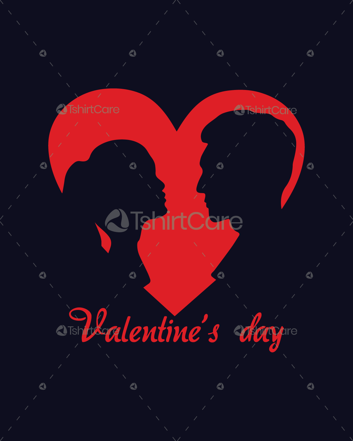 674f33bd3e Valentines Day Heart Love Couple T shirt Design for Event Boys ...