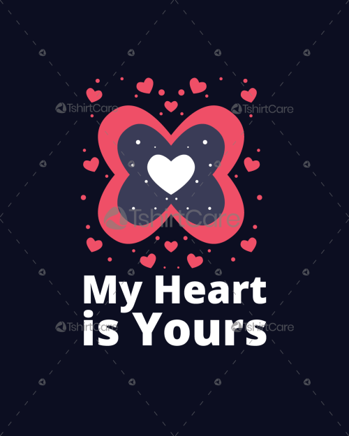 My heart is yours T-Shirt Design Valentines Day Gifts for Matching Couples Shirts