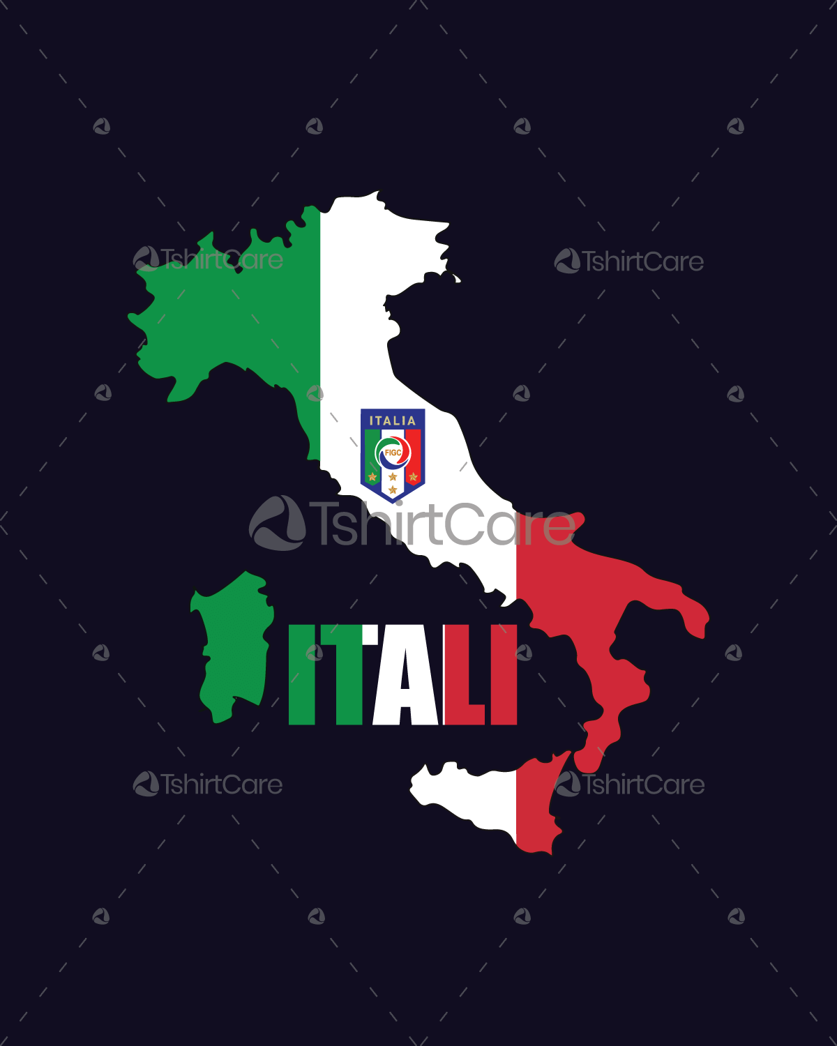 Italy Flag Map Png