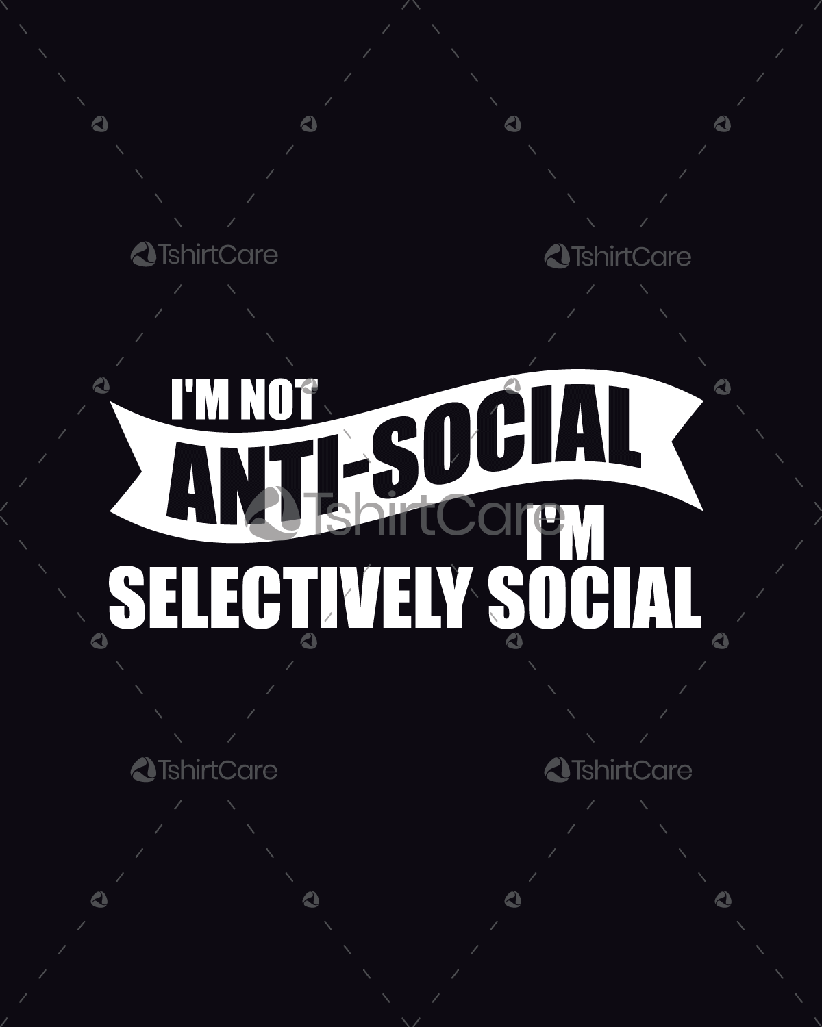 7b62f3830 I'm not antisocial I'm selectively social T shirt Design Graphic ...