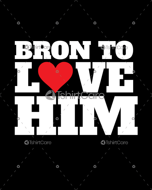 Born to love him Valentine's Day T-Shirt Design for Gift