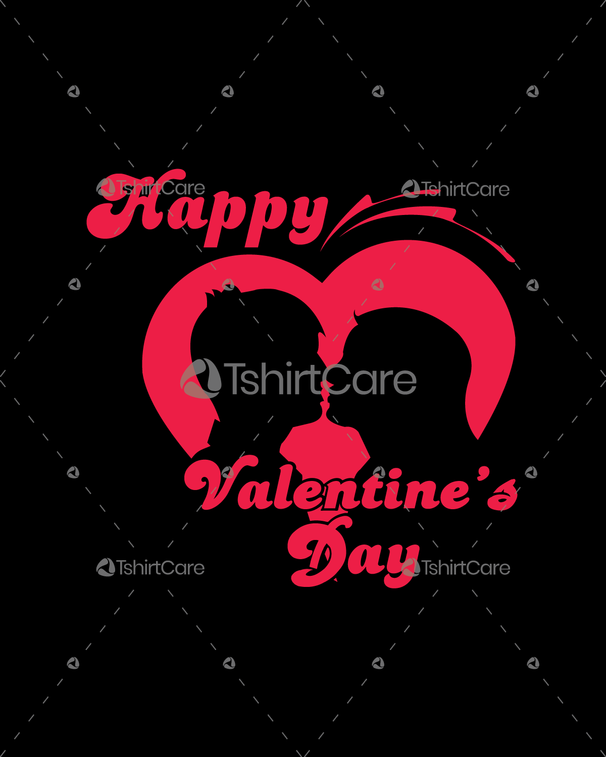 Happy Valentine's Day T-Shirt Design for Couple