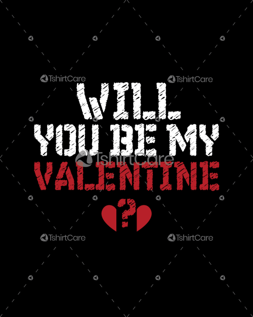 Will you be my valentine T shirt for Boy Girl Gift