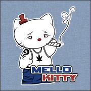 Hello Kitty Mellow Kitty spoof parody shirts