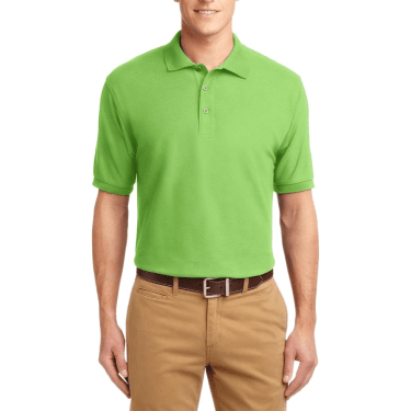 Short Sleeve Polo Shirt Lime Green