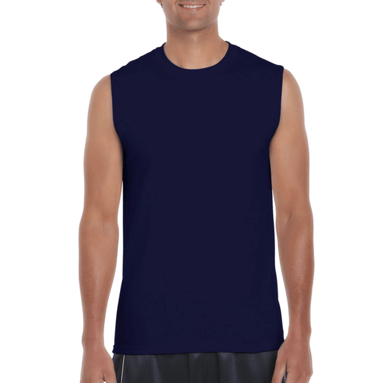 Sleeveless Top Navy Blue